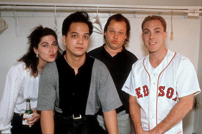 The Pixies backstage at the Warfield Theater in San Francisco on 4-16-92.