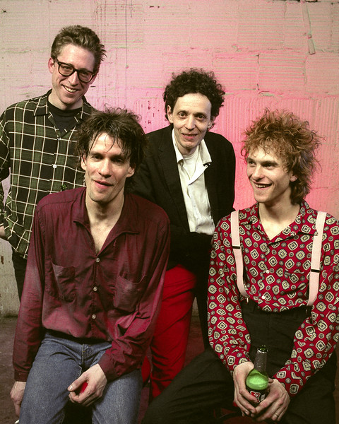 The Replacements backstage at the Warfield Theater in San Francisco in 1991.