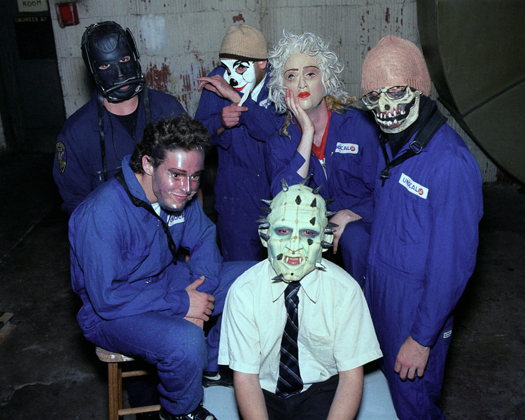 Mr. Bungle backstage at the Warfield Theater in San Francisco on April 20, 1992.