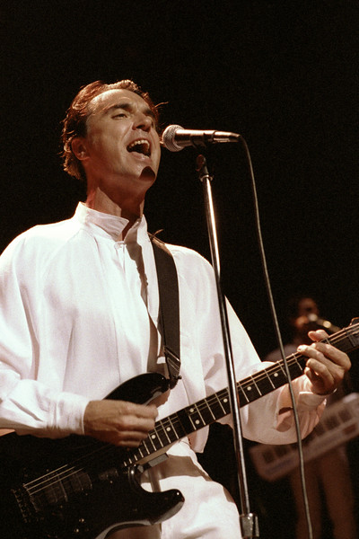 David Byrne performs at the Warfield Theater in San Francisco as part of the Rei Momo tour on June 10, 1990.