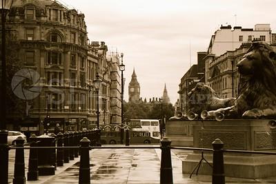 Trafalgar Square with Big Ben