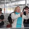 Yass Valley Shire Mayor Rowena Abbey cuts the ribbon.