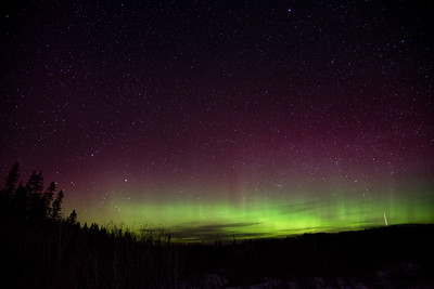 Northern Lights and Meteor