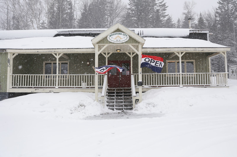HOLLY PELCZYNSKI - BENNINGTON BANNER The Woodford General Store on Rt. 9 in Woodford, open for business for locals and visitors to the area. Offering convenience items and visitor souvenirs.