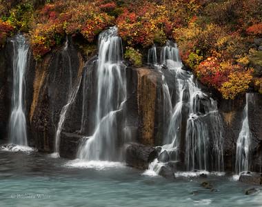 Hraunfosser Waterfalls