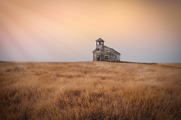 July 13 - A Time Gone By<br /> <br /> abandoned Cottonwood Church on the northern prairie in Montana