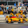 2017 Indianapolis 500, Pit crew at work. Ryan Hunter-Reay driving DHL