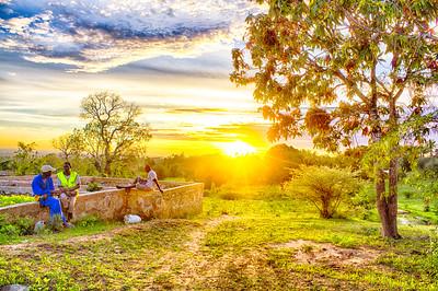 Sunset in Mazeras