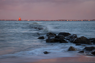 Sandy Point Shoal Lighthouse In Pink