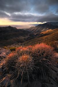 Sunrise overlooking Death Valley, California