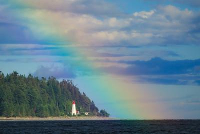 Rainbow at Cape Mudge