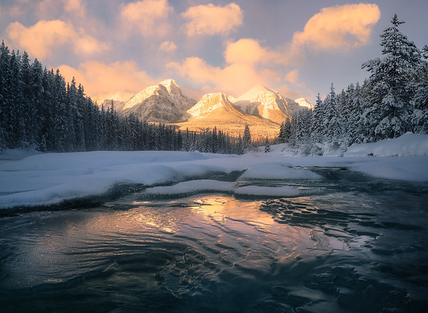 Unique ice formations in the Canadian Rockies