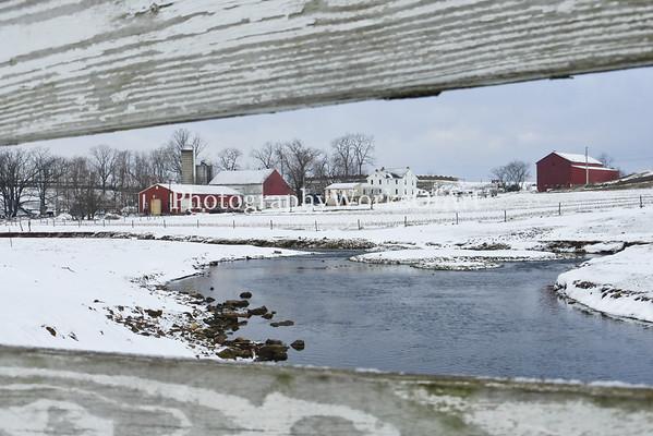 Fence Framed Winter Farm