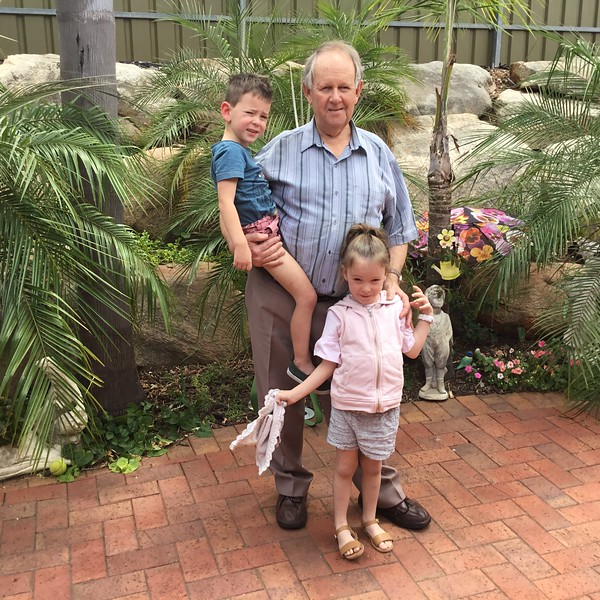 Great Poppa with Maddox & Dakota