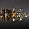 Nightscape  reflections