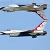 USAF Thunderbirds #5 Lead Solo Capt. Nicholas Eberling and USAF Thunderbirds #6 Opposing Solo Maj. Alex Turner (Sandy Tambone)
