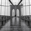 Brooklyn Bridge in rain