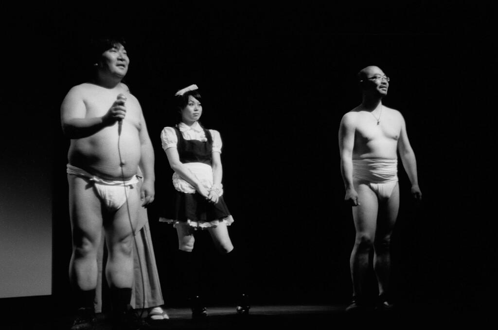 "NYC, Upper East Side, July 2010, Tri-X 600, iiif-Summar<br /> <br /> ""Mutant Girls Squad"" international premiere, Japan Society<br /> Co-directors & actress"