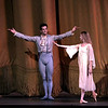 "Robert Fairchild and Sterling Hyltin, La Sonnambuta, October 11, 2013<br /> <br /> Balanchine's diversity and range were on display Friday night in The New York City Ballet All Balanchine Short Stories program. The three works ranged from La Sonnambula, a mysterious tale in the 19th century Romantic genre, Prodigal Son, a classic story of redemption and forgiveness from the bible, to Slaughter on Tenth Avenue, a fun, silly, fast moving Broadway piece about a stripper and tap dancer.<br /> <br /> Balanchine choreographed La Sonnambula in 1946 for Ballet Russe de Monte Carlo with music by Vittorio Rieti. New York City Ballet first performed it in 1960 with Allegra Kent and Erik Bruhn (Allegra was in the audience Friday evening). The ballet has 19th century era sets and costumes. The ballet opens with a regal party scene as the Poet (Robert Fairchild) joins the party. All eyes are on him as the host of the party, the Baron (Justine Peck) introduces him to the Coquette (Faye Arthurs). The Poet and Coquette flirt and dance, then sit and enjoy divertissements. The second divertissement was an interesting pas de deux with Lauren Lovette and Craig Hall, similar to the Act I Nutcracker Moore dance. It featured a section where Hall promenaded Lauren around while doing jetes. Troy Schumacher did a reasonable job as the Harlequin, which featured multiple split jumps; the solo had a sense of humor as in several sections in the solo, the Harlequin paused due to back pains, then recovered and resumed dancing. The solo ends with a horizontal dive off stage, hopefully a gentile landing on a gymnastics crash pad.<br /> <br /> The party resumes as the Coquette, dressed in a black gown, takes off her mask and dances romantically with the Poet. The Baron took the Coquette away as the party ended for dinner. The Poet was now a lost soul, searching for his new love. However, the Sleepwalker (Sterling Hyltin) bourreed into the scene holding a candle as if in a trance and the Poet was smitten by her. From the more detailed repertory notes available in the lobby, the Sleepwalker was the Baron's wife. The jealous Coquette saw the two in a romantic embrace and tells the Baron. He pulled a knife and stabbed the Poet. The Sleepwalker danced over his lifeless body and ultimately picked him up and carried him away. In the end, all eyes are on the balcony where the Sleepwalker took the Poet as the curtain closed. I agree with the repertory notes: ""The story remains mysterious, inviting different interpretations of the characters' actions and relationships.""<br /> <br /> I enjoyed the intense interaction between Fairchild and Sterling; Fairchild is mesmerized by the mysterious Sleepwalker as he tried to interrupt her trance. The two also did a nice job in Duo Concertant in the Black & White program.<br /> <br /> Next was Prodigal Son (1929) to music by Prokofiev. Serge Diaghilev, founder of Ballets Russes, hired Balanchine in 1924 and Prodigal son was Balanchine's last work for for the company's final Paris season. The story is derived from a biblical parable from the Gospel of Saint Luke. Russian poet, dancer and Diaghilev advisor Boris Kochno added dramatic material that emphasized the theme of sin and redemption.<br /> <br /> Daniel Ulbricht was the Prodigal Son, Maria Kowroski the Siren, and Jonathan Stafford the Father. Daniel opened with an energetic solo filled with high leaps and controlled multiple turns. He stomped around the stage opening his mouth wide as if to say, ""I am a spoiled brat."" The Father attempted to moderate his son's self-indulgent rant, but to no avail.<br /> <br /> Maria was the seductress Siren and she played this role well with her long, lean, imposing build that commands the stage. She has a long line with a never-ending extension. The Prodigal was gleeful upon discovering the Siren. She is taller than Daniel and he was like a little boy overpowered by her; he embraced her in a stomping promenade with his head buried against her chest as she raised her hand overhead as if to say, ""I have conquered him.""<br /> <br /> The Prodigal initially made friends with the grotesque-drinking companions that hideously stomped their way on stage. However, sensing danger, he tried to escape but was trapped by the strange bald creatures. They beat and striped the Prodigal bare and, as a final insult, the Siren stole his amulet. A single light focused on the bloody, near-naked Prodigal standing against a table, with everything taken from him. The pathetic stripped Prodigal crawled away for the long journey home.<br /> <br /> Using a wood pole to aid his crawl, the Prodigal finally arrived home. The father sees his battered son. In an iconic ballet moment with inspiring music of redemption, the father embraced his son and lifted him like a baby, protecting his son with his cape as he carried him home.<br /> <br /> Daniel excels at bravura steps like tours and pirouettes, but I wondered if he could pull off the dramatic part of this role. I thought his rendering was very good, particularly his return home and his shamed reaction when reunited with his father.<br /> <br /> In complete contrast to Prodigal Son, the comical Slaughter on Tenth Avenue ended the program. It was created for the 1936 Rodgers and Hart musical ""On Your Toes."" This was the first of four Rogers and Hart musicals Balanchine choreographed in the 1930s.<br /> <br /> According to the repertory notes, Slaughter is a parody of Broadway, Russian ballet, and the mob. It is a performance within a performance as it opens with a jealous Russian dancer (David Prottas) who hires a mobster to kill a rival during a new ballet. The new ballet is Slaughter on Tenth Avenue, about patrons of a sleazy strip joint near the waterfront in a rough area in New York City. The Hoofer (Andrew Veyette) falls in love with the Stripper (Sara Mearns). The Stripper is discovered with the Hoofer and the Big Boss (Justin Peck) accidentally shoots her. The actress Stripper somehow sends a note to the Hoofer to reveal the real murder plot. The Hoofer, aware that the thug (sitting in the real theatre balcony) will shoot him when he stops dancing, keeps repeating his last line until the police arrive.<br /> <br /> Sara Mearns was spectacular as the stripper. In a short black dress with string skirt, fishnet stockings, high heals, and blond hair flowing down to her shoulders, she paraded around the pink stage, hand on hip, strutting her stuff. Not typical fare at the ballet, but audience members (particularly the men) didn't seem to mind. Andrew Veyette as the Hoofer demonstrated his proficient tap dance abilities in several high-energy solos. I thought I had a long walk back home from Times Square-until I realized that I was at Lincoln Center."
