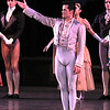 "Robert Fairchild, La Sonnambuta, October 11, 2013<br /> <br /> Balanchine's diversity and range were on display Friday night in The New York City Ballet All Balanchine Short Stories program. The three works ranged from La Sonnambula, a mysterious tale in the 19th century Romantic genre, Prodigal Son, a classic story of redemption and forgiveness from the bible, to Slaughter on Tenth Avenue, a fun, silly, fast moving Broadway piece about a stripper and tap dancer.<br /> <br /> Balanchine choreographed La Sonnambula in 1946 for Ballet Russe de Monte Carlo with music by Vittorio Rieti. New York City Ballet first performed it in 1960 with Allegra Kent and Erik Bruhn (Allegra was in the audience Friday evening). The ballet has 19th century era sets and costumes. The ballet opens with a regal party scene as the Poet (Robert Fairchild) joins the party. All eyes are on him as the host of the party, the Baron (Justine Peck) introduces him to the Coquette (Faye Arthurs). The Poet and Coquette flirt and dance, then sit and enjoy divertissements. The second divertissement was an interesting pas de deux with Lauren Lovette and Craig Hall, similar to the Act I Nutcracker Moore dance. It featured a section where Hall promenaded Lauren around while doing jetes. Troy Schumacher did a reasonable job as the Harlequin, which featured multiple split jumps; the solo had a sense of humor as in several sections in the solo, the Harlequin paused due to back pains, then recovered and resumed dancing. The solo ends with a horizontal dive off stage, hopefully a gentile landing on a gymnastics crash pad.<br /> <br /> The party resumes as the Coquette, dressed in a black gown, takes off her mask and dances romantically with the Poet. The Baron took the Coquette away as the party ended for dinner. The Poet was now a lost soul, searching for his new love. However, the Sleepwalker (Sterling Hyltin) bourreed into the scene holding a candle as if in a trance and the Poet was smitten by her. From the more detailed repertory notes available in the lobby, the Sleepwalker was the Baron's wife. The jealous Coquette saw the two in a romantic embrace and tells the Baron. He pulled a knife and stabbed the Poet. The Sleepwalker danced over his lifeless body and ultimately picked him up and carried him away. In the end, all eyes are on the balcony where the Sleepwalker took the Poet as the curtain closed. I agree with the repertory notes: ""The story remains mysterious, inviting different interpretations of the characters' actions and relationships.""<br /> <br /> I enjoyed the intense interaction between Fairchild and Sterling; Fairchild is mesmerized by the mysterious Sleepwalker as he tried to interrupt her trance. The two also did a nice job in Duo Concertant in the Black & White program.<br /> <br /> Next was Prodigal Son (1929) to music by Prokofiev. Serge Diaghilev, founder of Ballets Russes, hired Balanchine in 1924 and Prodigal son was Balanchine's last work for for the company's final Paris season. The story is derived from a biblical parable from the Gospel of Saint Luke. Russian poet, dancer and Diaghilev advisor Boris Kochno added dramatic material that emphasized the theme of sin and redemption.<br /> <br /> Daniel Ulbricht was the Prodigal Son, Maria Kowroski the Siren, and Jonathan Stafford the Father. Daniel opened with an energetic solo filled with high leaps and controlled multiple turns. He stomped around the stage opening his mouth wide as if to say, ""I am a spoiled brat."" The Father attempted to moderate his son's self-indulgent rant, but to no avail.<br /> <br /> Maria was the seductress Siren and she played this role well with her long, lean, imposing build that commands the stage. She has a long line with a never-ending extension. The Prodigal was gleeful upon discovering the Siren. She is taller than Daniel and he was like a little boy overpowered by her; he embraced her in a stomping promenade with his head buried against her chest as she raised her hand overhead as if to say, ""I have conquered him.""<br /> <br /> The Prodigal initially made friends with the grotesque-drinking companions that hideously stomped their way on stage. However, sensing danger, he tried to escape but was trapped by the strange bald creatures. They beat and striped the Prodigal bare and, as a final insult, the Siren stole his amulet. A single light focused on the bloody, near-naked Prodigal standing against a table, with everything taken from him. The pathetic stripped Prodigal crawled away for the long journey home.<br /> <br /> Using a wood pole to aid his crawl, the Prodigal finally arrived home. The father sees his battered son. In an iconic ballet moment with inspiring music of redemption, the father embraced his son and lifted him like a baby, protecting his son with his cape as he carried him home.<br /> <br /> Daniel excels at bravura steps like tours and pirouettes, but I wondered if he could pull off the dramatic part of this role. I thought his rendering was very good, particularly his return home and his shamed reaction when reunited with his father.<br /> <br /> In complete contrast to Prodigal Son, the comical Slaughter on Tenth Avenue ended the program. It was created for the 1936 Rodgers and Hart musical ""On Your Toes."" This was the first of four Rogers and Hart musicals Balanchine choreographed in the 1930s.<br /> <br /> According to the repertory notes, Slaughter is a parody of Broadway, Russian ballet, and the mob. It is a performance within a performance as it opens with a jealous Russian dancer (David Prottas) who hires a mobster to kill a rival during a new ballet. The new ballet is Slaughter on Tenth Avenue, about patrons of a sleazy strip joint near the waterfront in a rough area in New York City. The Hoofer (Andrew Veyette) falls in love with the Stripper (Sara Mearns). The Stripper is discovered with the Hoofer and the Big Boss (Justin Peck) accidentally shoots her. The actress Stripper somehow sends a note to the Hoofer to reveal the real murder plot. The Hoofer, aware that the thug (sitting in the real theatre balcony) will shoot him when he stops dancing, keeps repeating his last line until the police arrive.<br /> <br /> Sara Mearns was spectacular as the stripper. In a short black dress with string skirt, fishnet stockings, high heals, and blond hair flowing down to her shoulders, she paraded around the pink stage, hand on hip, strutting her stuff. Not typical fare at the ballet, but audience members (particularly the men) didn't seem to mind. Andrew Veyette as the Hoofer demonstrated his proficient tap dance abilities in several high-energy solos. I thought I had a long walk back home from Times Square-until I realized that I was at Lincoln Center."