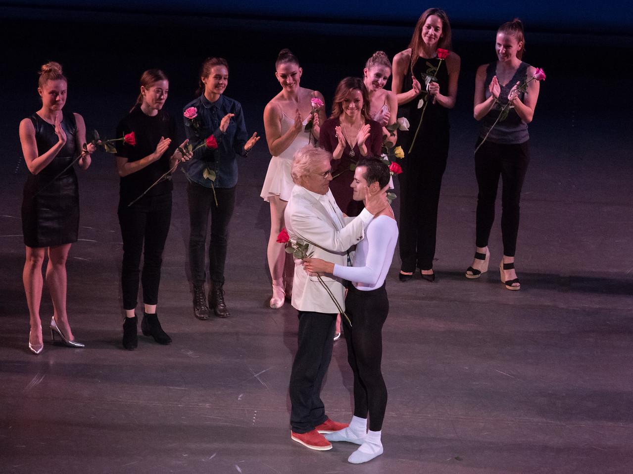 Robert Fairchild and Peter Martins, Fairchild's Final NYCB Performance, October 15, 2017