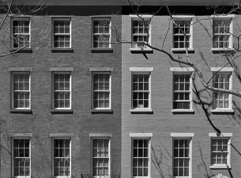 Brick facade.... MacDougal-Sullivan Gardens  Historic District
