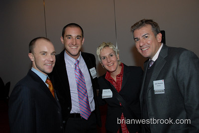 David Posegay (Planet Out), George Marquieira (SPI Marketing), Frances Wallace (Impax Marketing Group), James Navarrete (PlanetOut) at the 2007 Commercial Closet Association AdRespect Honors.  Photo by Brian M. Westbrook / brianwestbrook.com. Commercial Closet Association 2007 AdRespect Honors at the NY Times Center in NYC November 15, 2007.  Photo by Brian M. Westbrook / brianwestbrook.com.