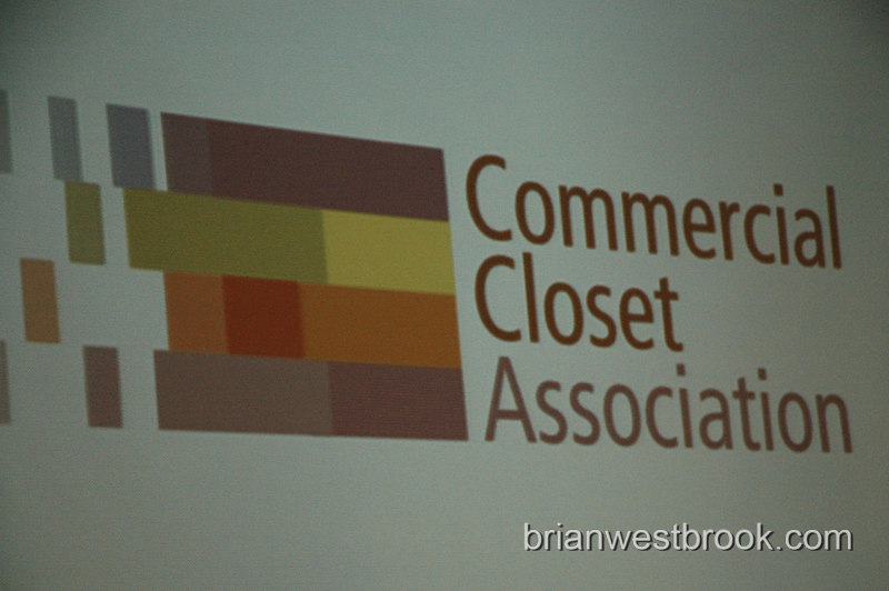 Commercial Closet Association logo  at the Corporate Visionary Awards presented by Commercial Closet Association and hosted by the NY Times in NYC November 20, 2006.