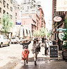Two Women with Hats, Mulberry Street, NY, NY