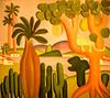 Surrealist Painting, Tarsila do Amaral (at MOMA), NY, NY