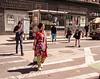 Women Walking in a Crosswalk, Grand Street, NY, NY