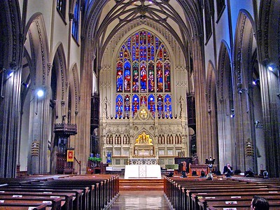 Interior of Trinity Church at Wall Street and Broadway
