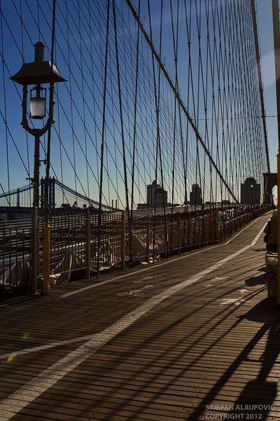 Entering Brooklyn Bridge (November 2012)