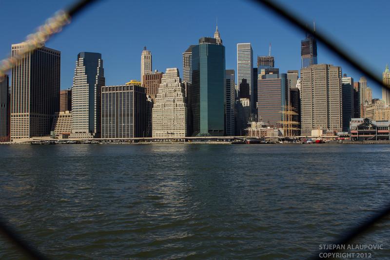 View of Downtown Manhattan from Brooklyn Bridge Park (November 2012)