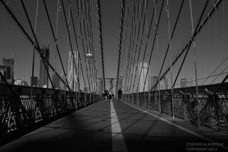 Early Morning Runner at Brooklyn Bridge (November 2012)