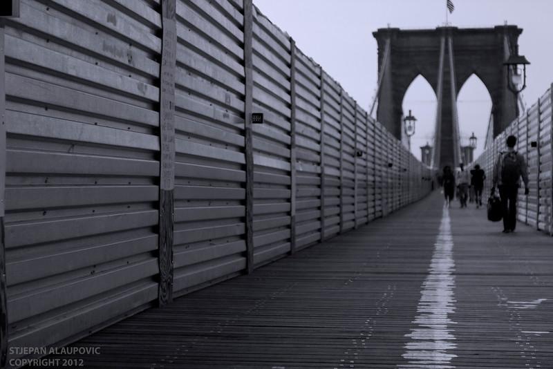 Construction on the Brooklyn Bridge (May 2012)