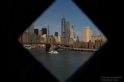 Lower Manhattan View from Manhattan Bridge