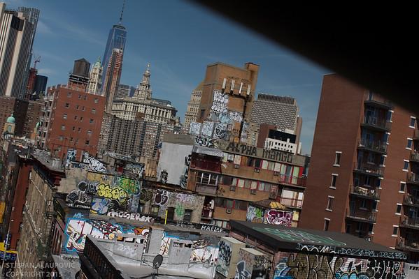 Chinatown with Lower Manhattan in Background