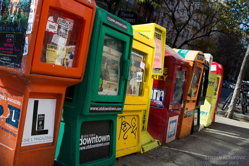 Newsstands in the East Village
