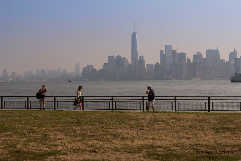 Lower Manhattan Skyline from Ellis Island