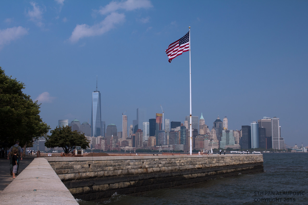 Lower Manhattan View from Liberty Island