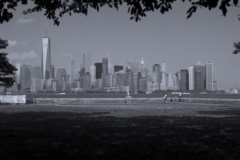 Lower Manhattan Skyline from Liberty Island