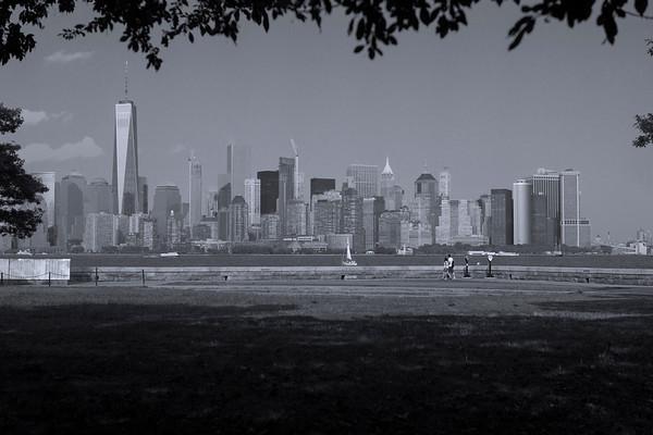 Lower Manhattan Skyline from Liberty Island