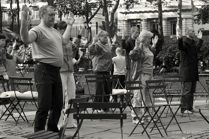Yoga at Bryant Park (May 2012)