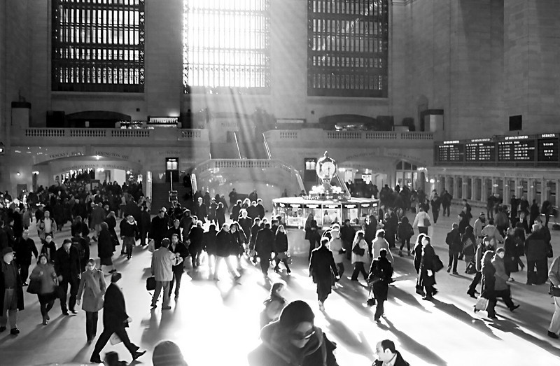 Grand Central February 2009<br /> <br /> As I've discovered trying to take more of this type of image, the light only hits those windows this way during certain times of year.  Otherwise, all the tall buildings block the low angle sun.