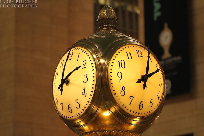 Grand Central Terminal opal clock.