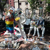 """Gay Life"" statue in front of the Stonewall Inn"