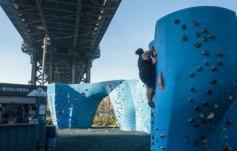 """Boulders"" at Brooklyn Bridge Park"