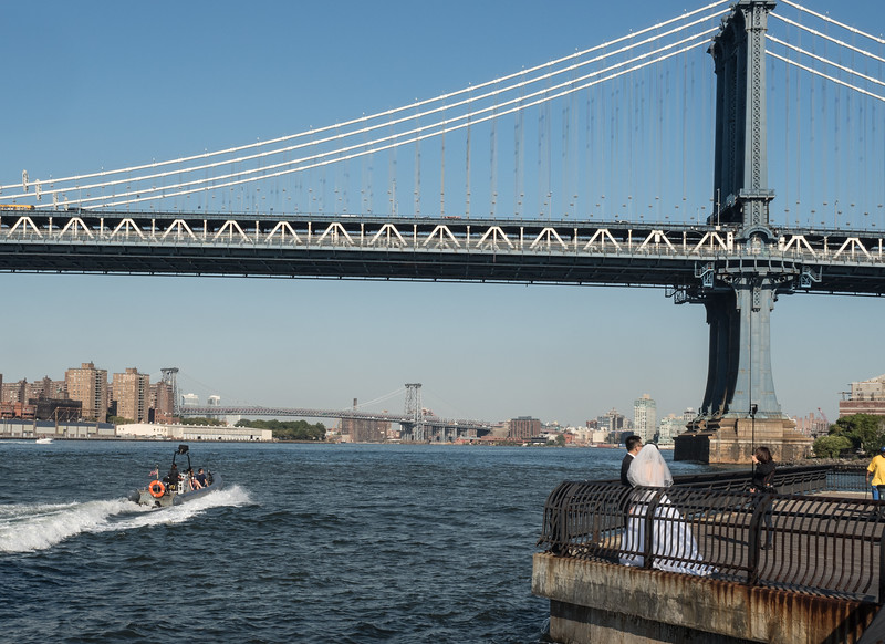 Manhattan Bridge, Williamsburg Bridge in Background