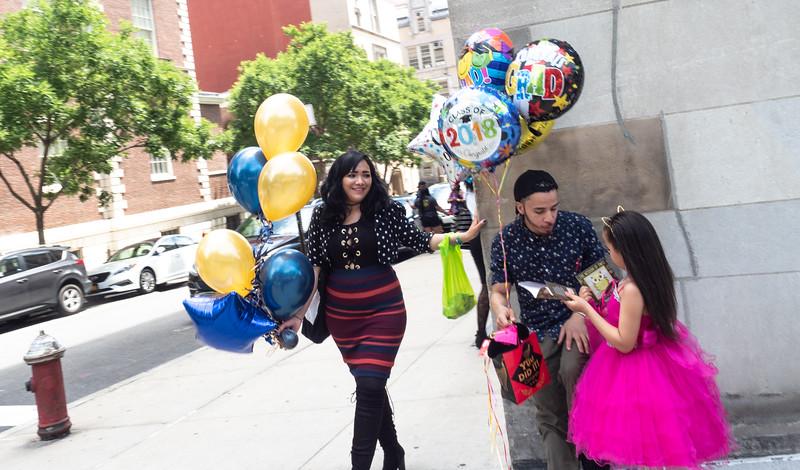 Graduation celebration on Fifth Avenue